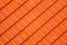 Modern red roof tile pattern diagonally set Royalty Free Stock Photos