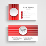 Modern red round business card template Royalty Free Stock Image