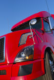 Modern red semi truck Royalty Free Stock Photo