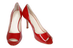 Modern red shoes Royalty Free Stock Image