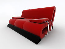 Modern red sofa Royalty Free Stock Photography
