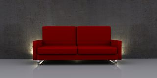 Modern red sofa Stock Photo