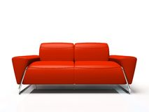 Modern red sofa Royalty Free Stock Photos
