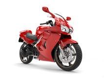 Modern red super sports bike Stock Photo