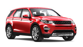 Modern red SUV Stock Photo