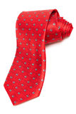 Modern red tie Stock Photography