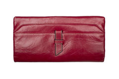 Modern red wallet Stock Images