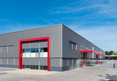 Modern red warehouse Stock Images