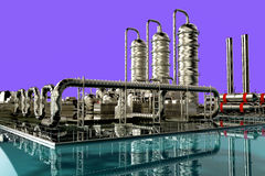 Refinery. Modern refinery  with blue sky Stock Photo