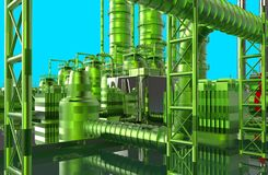 Modern refinery. See my other works in portfolio Stock Photo