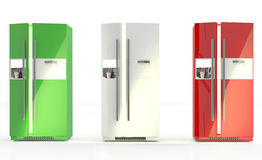 Modern refrigerator Royalty Free Stock Images