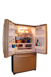 Modern refrigerator with food Stock Images