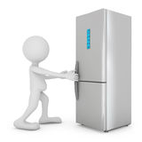 Modern refrigerator Stock Photography