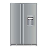 Modern refrigerator Royalty Free Stock Photos
