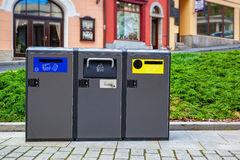 Modern refuse bins Royalty Free Stock Images
