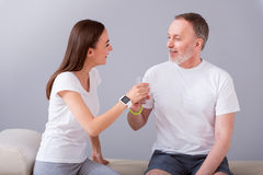 Modern rehabilitation physiotherapy Royalty Free Stock Image