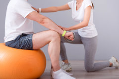 Modern rehabilitation physiotherapy Stock Images