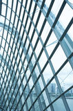 Modern reinforced steel glass Wall. Details of a modern building Royalty Free Stock Photography