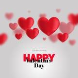 Modern reklamblad med lyckliga valentin för text dag Arkivfoto
