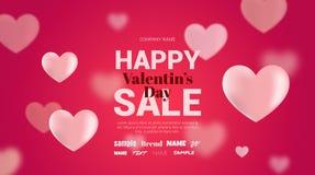 Modern reklamblad med lyckliga valentin för text dag Arkivbilder