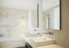 Modern ren toalett royaltyfri fotografi