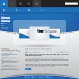 Modern ren Websitemall Arkivbild