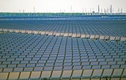 Huge Solar Power Plant. Modern Renewable Energy Plant. Huge Solar Power Plant Closeup Photo stock image