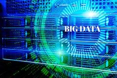 Modern rengöringsduknätverk och internettelekommunikationteknologi, affär för datatjänst för stort moln för datalagring beräknand Royaltyfria Bilder