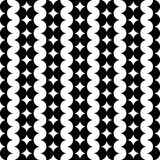 Modern repeating seamless pattern of repeat round shapes. Stylish texture. Geometric background. Vector illustration. Royalty Free Stock Images
