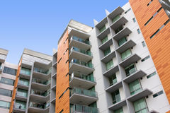 Modern residential apartment building Stock Photo