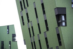Modern residential apartments living house exterior Royalty Free Stock Images