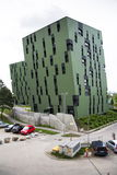 Modern residential apartments living house exterior near Gasometers of Vienna Stock Images