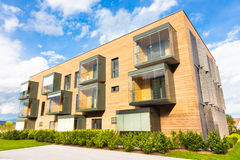 Modern residential architecture. Royalty Free Stock Photo