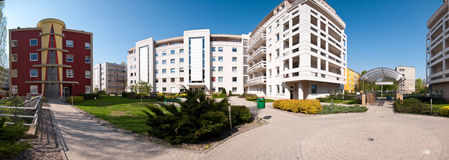Modern residential area. Panoramic image Stock Photos
