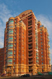 Modern residential brick building Royalty Free Stock Photo