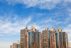 The modern Residential building. Under blue sky,Beijing, China royalty free stock image