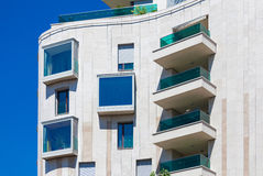 Modern residential  building Royalty Free Stock Image