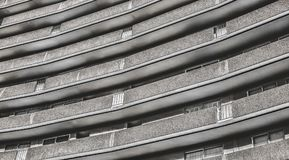 Modern residential building line patterned exterior stock images