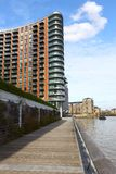 Modern residential building by River Thames Stock Images