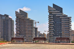 Modern residential buildings in Ashdod, Israel. Royalty Free Stock Images