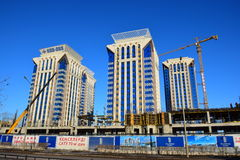 Modern residential buildings in Astana / Kazakhstan Royalty Free Stock Images