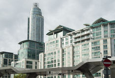 Modern residential buildings in the city Royalty Free Stock Photos