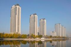 Modern residential buildings Stock Photo