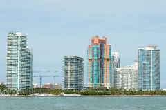 Modern residential buildings on Miami Beach Stock Image