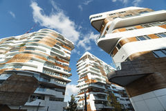 Modern residential buildings in Milan Royalty Free Stock Photos