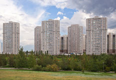 Modern residential complex in Astana. Kazakhstan Stock Photos