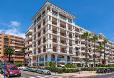 Modern residential complex in Menton, France. Royalty Free Stock Images