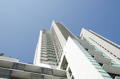 Modern residential condominium stock photos