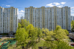 Modern residential high-rise houses in new districts of Moscow.  Stock Photography