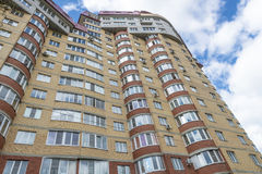 Modern residential high-rise houses in new districts of Moscow.  Stock Images